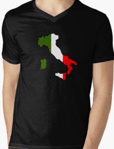 Map of Italy Mens V-Neck T-Shirt