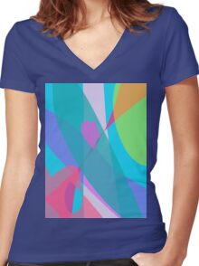 Communication in the Sky Women's Fitted V-Neck T-Shirt
