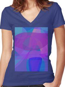 Blue Stool Women's Fitted V-Neck T-Shirt