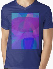 Blue Stool Mens V-Neck T-Shirt