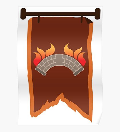 BANNER CREST SIGIL burning bridge BRIDGEBURNERS Poster
