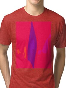 Purple Flame Tri-blend T-Shirt