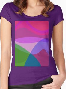 Overlooking the Lake Women's Fitted Scoop T-Shirt