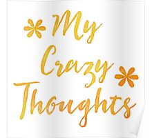 My Crazy thoughts (perfect for a crazy persons journal!) Poster