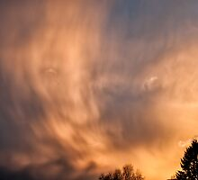 Clouds in the sunset by Stefan Johansson