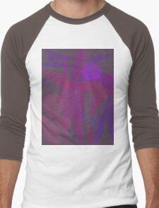 Flower Stars Purple Moon Men's Baseball ¾ T-Shirt