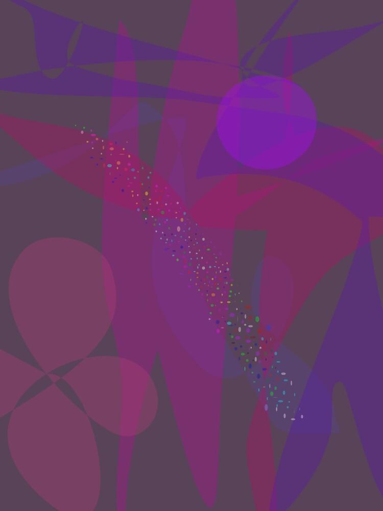 Flower Stars Purple Moon by masabo
