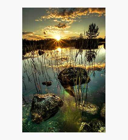 Sunset by a small lake Photographic Print
