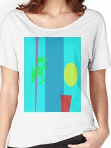 Bamboo Flowerpot Moon Women's Relaxed Fit T-Shirt