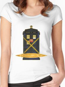 DOCTOR WHOOPER THEORY VINTAGE  Women's Fitted Scoop T-Shirt
