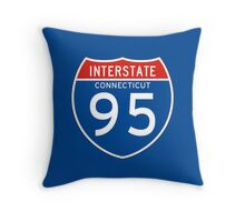 Interstate Sign 95 Connecticut, USA Throw Pillow