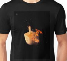 Flaming Sevivon (or Dreidel) a spinning top traditionally played during Chanukah Unisex T-Shirt