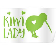 KIWI LADY cute kiwi bird Poster
