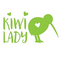 KIWI LADY cute kiwi bird Photographic Print