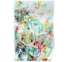 BRUCE SPRINGSTEEN PLAYING the GUITAR - watercolor portrait.2 Poster