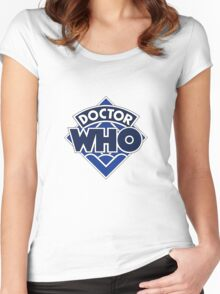 4th Doctor Logo Women's Fitted Scoop T-Shirt