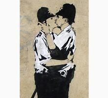 Banksy Kissing Police Unisex T-Shirt