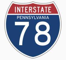 Interstate Sign 78 Pennsylvania, USA One Piece - Short Sleeve