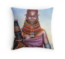 Samburu Maiden Lady Throw Pillow