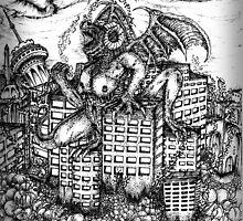 Monster Crusher Sketch by OnePortraitArt