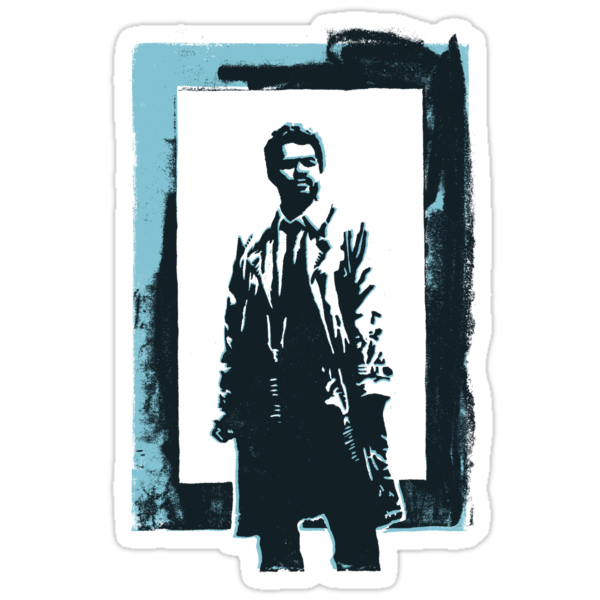 Castiel duotone WoodPrint by guusana