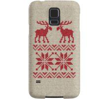 Moose Pattern Christmas Sweater Knit Samsung Galaxy Case/Skin