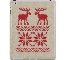 Moose Pattern Christmas Sweater Knit iPad Case/Skin