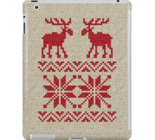 Moose Pattern Christmas Sweater Knit iPad Case/Skin