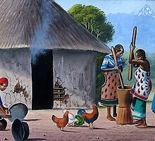 Kikuyu traditional homestead by Mutan