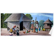 Kikuyu traditional homestead Poster