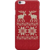 Moose Pattern Christmas Sweater Knit iPhone Case/Skin