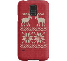 Moose Pattern Christmas Sweater Knit Samsung Galaxy Case/Skin