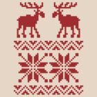 Moose Pattern Christmas Sweater by tinybiscuits