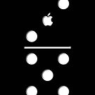 Lucky seven Black Domino apple iphone 5, iphone 4 4s, iPhone 3Gs, iPod Touch 4g case by Pointsale store.com