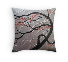 zen bonsai tree II by Catherine Jacobs of SheerJoy Throw Pillow