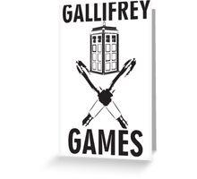 Gallifrey Games Greeting Card