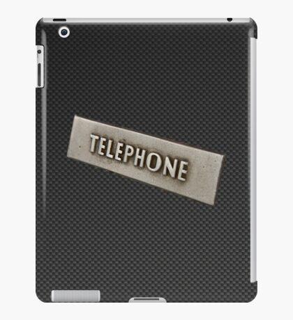 CARBON FIBER TELEPHONE. iPad Case/Skin