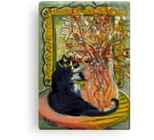 Still Life with Cat Canvas Print