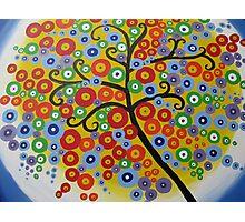rainbow tree with circle leaves Photographic Print