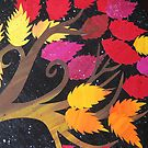 Autumn- made from recycled maths books by cathyjacobs