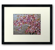 blue and pink and purple sakura Framed Print
