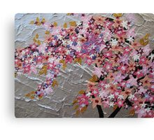 blue and pink and purple sakura Canvas Print