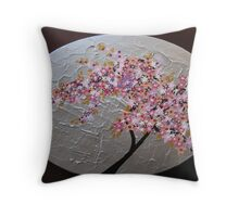 sakura oval Throw Pillow