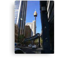 Sydney monorail Canvas Print