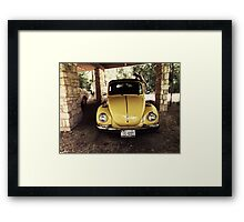 1970s VW Bug Framed Print