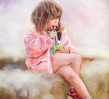 A LIttle Girl in Pink Sucks by Charles Wang