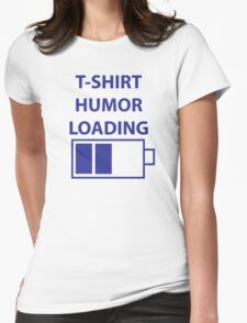 Loading Humour Battery Womens Fitted T-Shirt