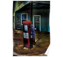 Old Mobil Gas Pump Poster