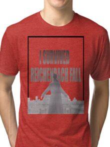 Reichenbach Fall Tri-blend T-Shirt