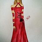Crimson Gown by EddieRay2013